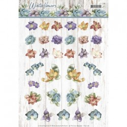 (CD11198)3D-knipvel - Precious Marieke - Winter Flowers - Mini