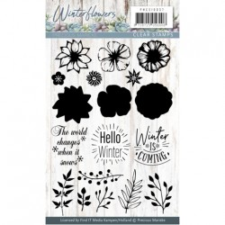 (PMCS10037)Clearstamp - Precious Marieke - Winter Flowers