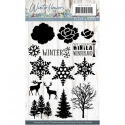 (PMCS10038)Clearstamp - Precious Marieke - Winter Flowers