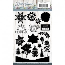 (PMCS10039)Clearstamp - Precious Marieke - Winter Flowers