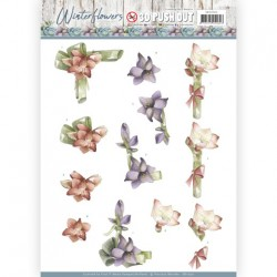 (SB10299)3D Pushout - Precious Marieke - Winter Flowers - Orchids