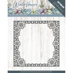 (PM10139)Dies - Precious Marieke - Winter Flowers - Snowflake flower frame