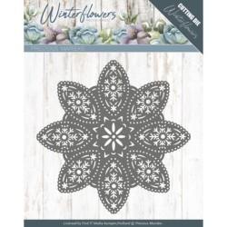 (PM10140)Dies - Precious Marieke - Winter Flowers - Floral Snowflake