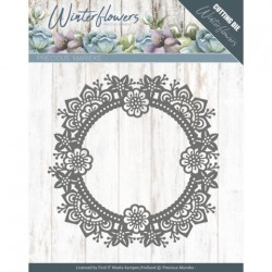(PM10141)Dies - Precious Marieke - Winter Flowers - Ice flower circle