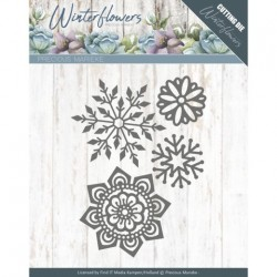 (PM10143)Dies - Precious Marieke - Winter Flowers - Ice flowers