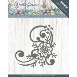 (PM10144)Dies - Precious Marieke - Winter Flowers - Snowflake flower corner