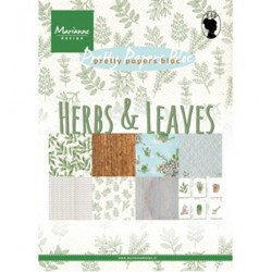 (PK9152)Pretty Papers bloc A5 Herbs & leaves