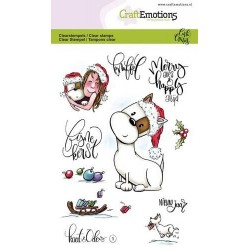 (1601)CraftEmotions clearstamps A6 - Kaat en Odey 1