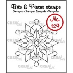 (CLBP129)Crealies Clearstamp Bits & Pieces snowflake A