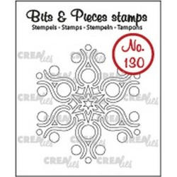 (CLBP130)Crealies Clearstamp Bits & Pieces snowflake B