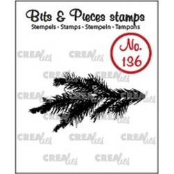 (CLBP136)Crealies Clearstamp Bits & Pieces pine branch