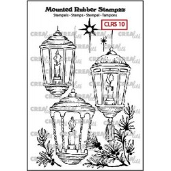 (CLRS10)Crealies Mounted Rubber Stampzz no. 10 lanterns