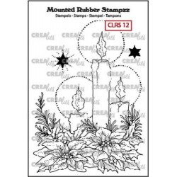 (CLRS12)Crealies Mounted Rubber Stampzz no. 12 candles