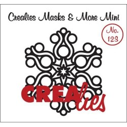(CLMMM123)Crealies Masks & More Mini no. 123 snowflake B