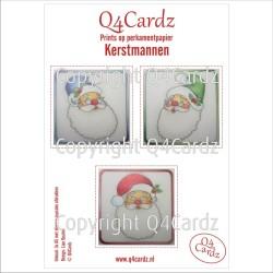 Q4Cardz Prints Kerstmannen Perkamentpapier