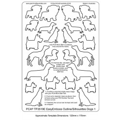 (TP3519E)PCA® - EasyEmboss Outlines or Silhouettes Dogs 1
