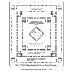 (TP3520E)PCA® - EasyEmboss Outline or Cutout Frames 1