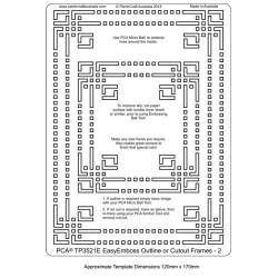 (TP3521E)PCA® - EasyEmboss Outline or Cutout Frames 2