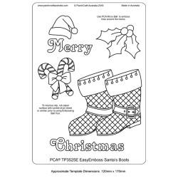 (TP3525E)PCA® - EasyEmboss Santa's Boots
