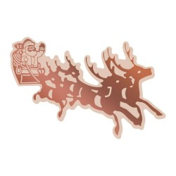 (CO726309)Couture Creations Highland Christmas Cut, Foil & Emboss Die Santa's Sleigh