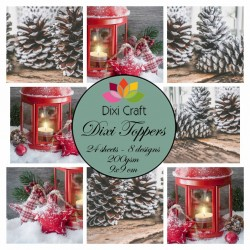 (ETL013)Dixi Craft Toppers Candle & Pinecones