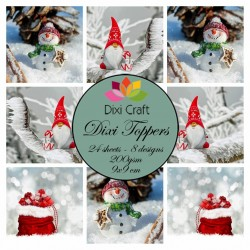 (ETL016)Dixi Craft Toppers Gnome & Snowman