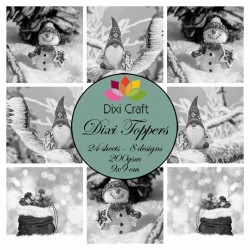 (ETL018)Dixi Craft Toppers Gnome & Snowman Grey