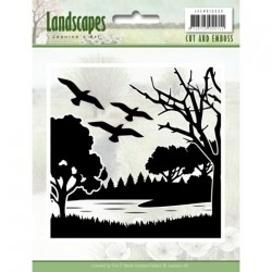 (JAEMB10006)Cut and Embossing folder - Jeanine's Art - Landscapes