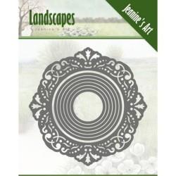 (JAD10051)Dies - Jeanine's Art - Landscapes-circles