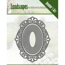 (JAD10052)Dies - Jeanine's Art - Landscapes- oval