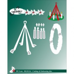 (BLD1116)By Lene Cutting & Embossing Dies Advent Wreath