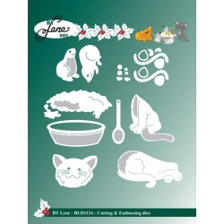 (BLD1124)By Lene Cutting & Embossing Dies Cats & Mouses