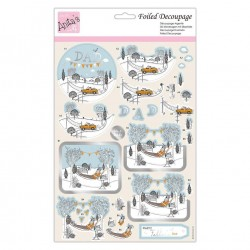 (ANT 169889)Anita's Foiled Decoupage Best Dad