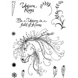 (PI007)Pink Ink Desings Unicorn