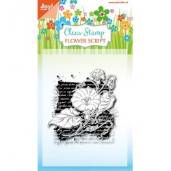 (6410/0387)Clear stamp Flower script