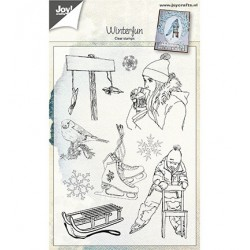 (6410/0494)Clear stamp Winterfun