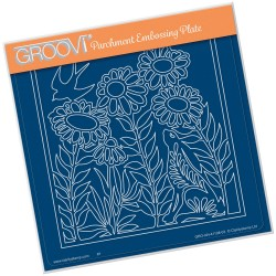 (GRO-AN-41108-03)Groovi Plate A5 HARE IN THE MEADOW