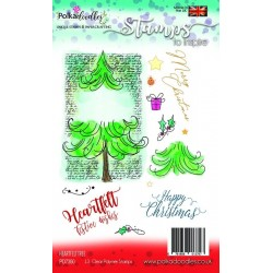 (PD7350)Polkadoodles Heartfelt Tree Clear Stamps