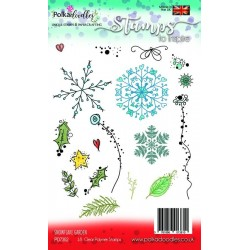 (PD7352)Polkadoodles Snowflake Garden Clear Stamps