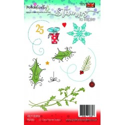 (PD7353)Polkadoodles Holly Flourish Clear Stamps