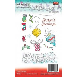 (PD7357)Polkadoodles Cute as Christmas Clear Stamps