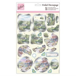 (ANT 169764)Anita's Foiled Decoupage Scenic Views