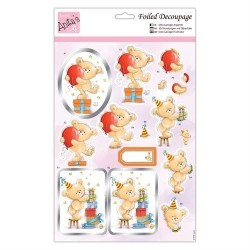 (ANT 169768)Anita's Foiled Decoupage Birthday Bash