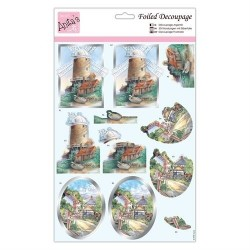 (ANT 169771)Anita's Foiled Decoupage Country Walks