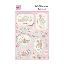 (ANT 169534)Anita's Foiled Decoupage Tea and Cake