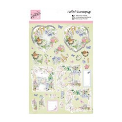 (ANT 169535)Anita's Foiled Decoupage Sitting in the Garden