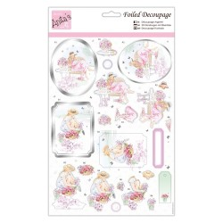 (ANT 169842)Anita's Foiled Decoupage Collecting Flowers