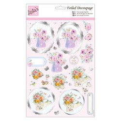 (ANT 169853)Anita's Foiled Decoupage Say It With Flowers