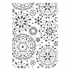 (EF290)Kaisercraft embossing folder snowflakes