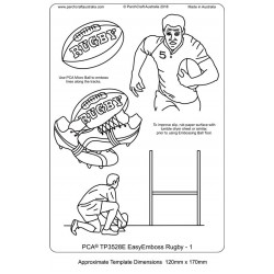 (TP3528E)PCA® - EasyEmboss Rugby 1